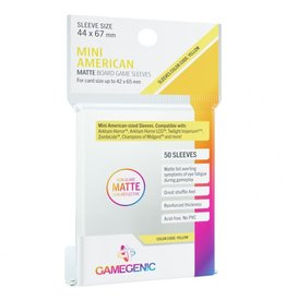 GameGenic Deck Protector: Matte: Mini American Yellow (50)