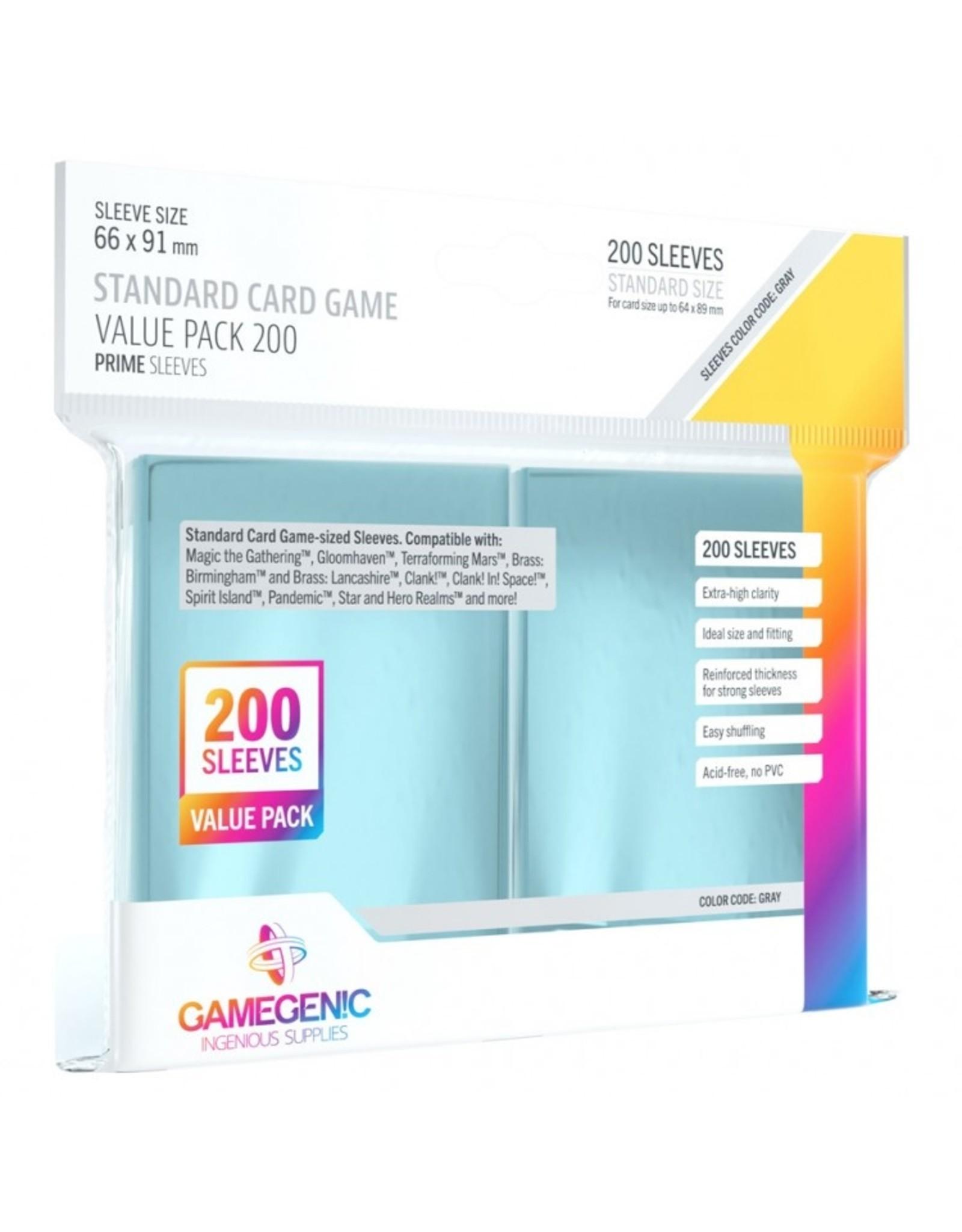 GameGenic Deck Protector: Prime: Standard CG Value Pack (200)