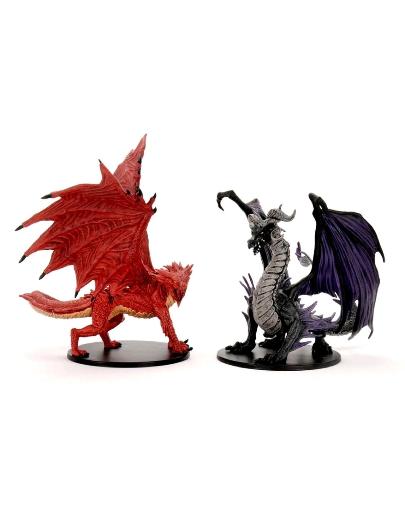 Wiz Kids Pathfinder Battles: City of Lost Omens Premium Figure Adult Red & Black Dragons