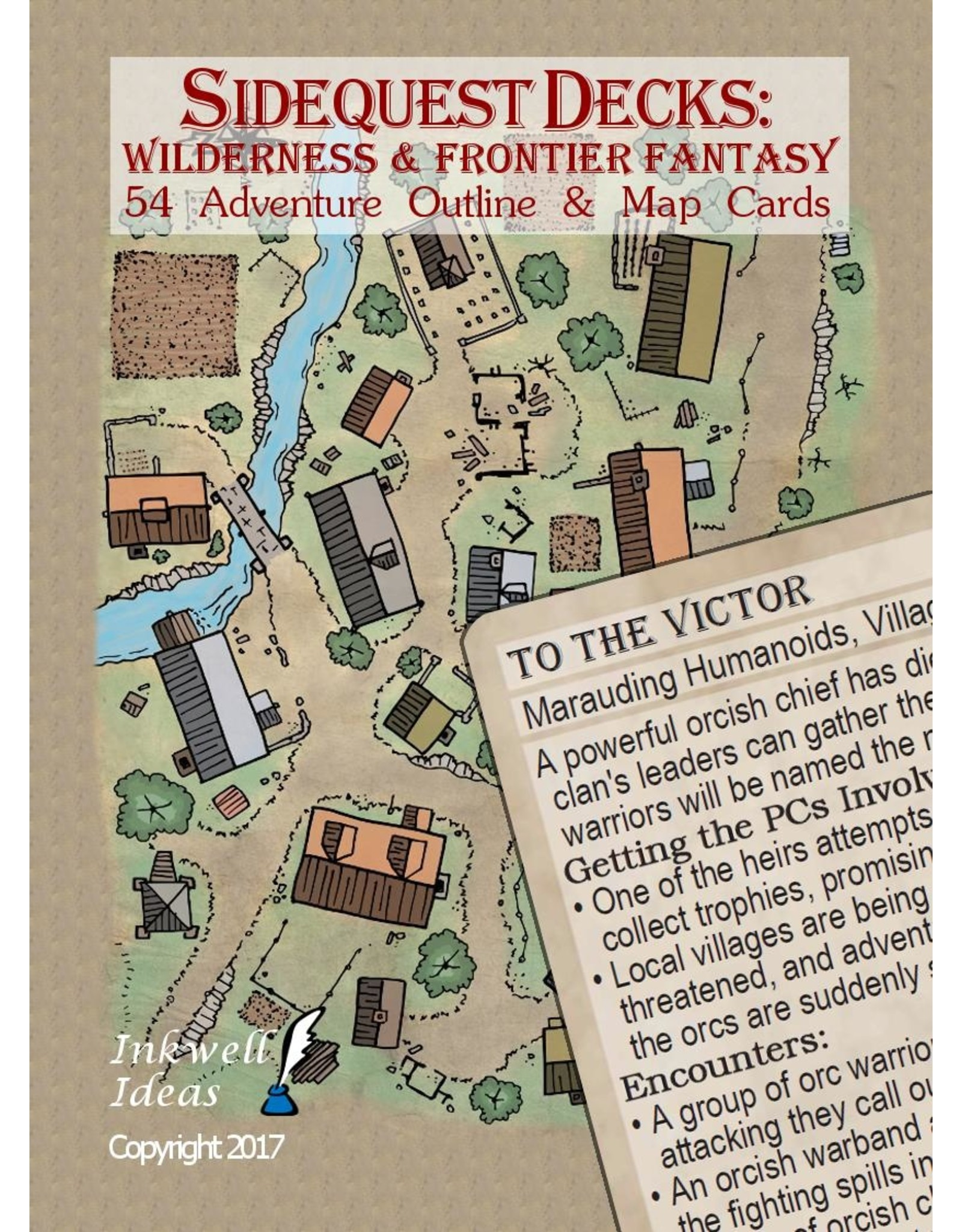 Indie Press Revolution Sidequest Decks: Wilderness & Frontier Fantasy