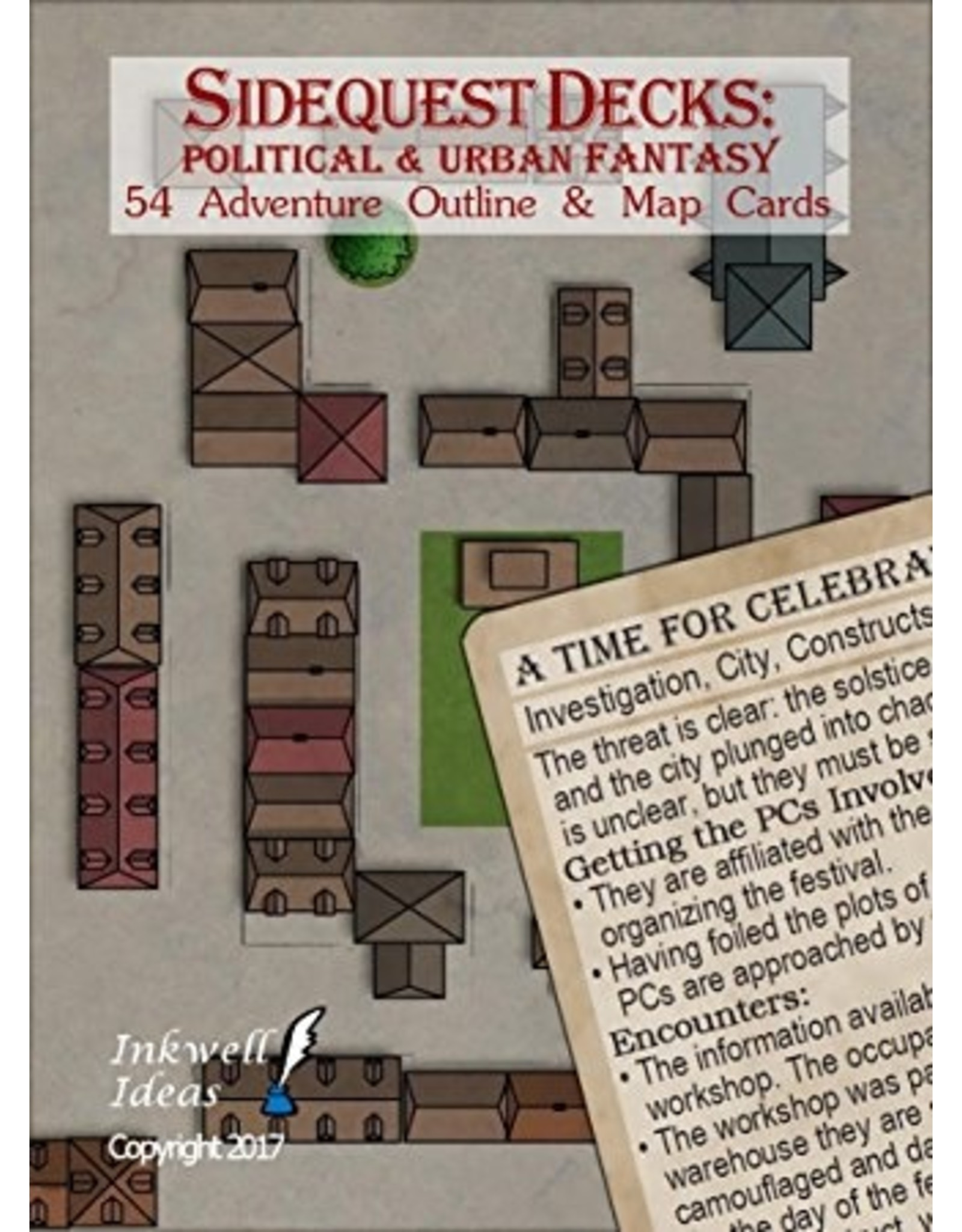 Indie Press Revolution Sidequest Decks: Political & Urban Fantasy