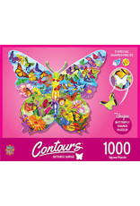 MasterPieces Countours - Butterfly 1000pc Shaped Puzzle