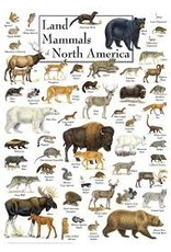 MasterPieces Poster Art - Land Mammals of North America 1000pc Puzzle