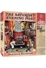 MasterPieces Saturday Evening Post Norman Rockwell - Road Block 1000pc Puzzle