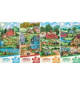 MasterPieces Simple Living - 4 Puzzle Assortment 500pc Puzzles