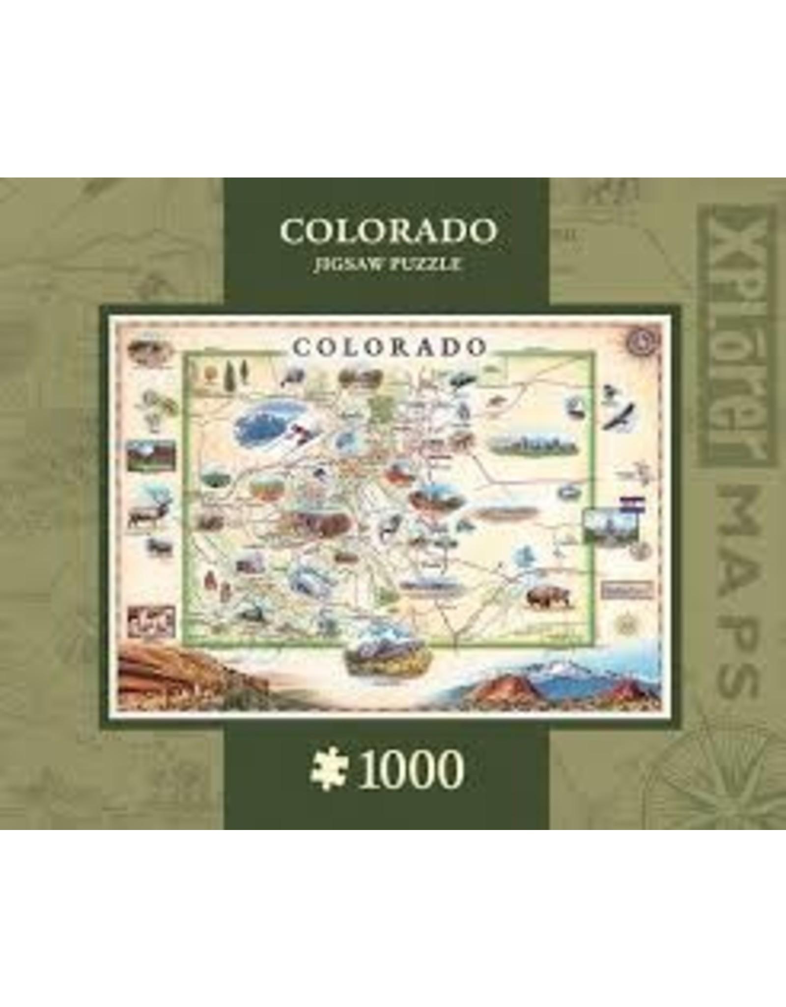 MasterPieces Xplorer Maps - Colorado 1000pc Puzzle