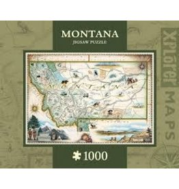 MasterPieces Xplorer Maps - Montana 1000pc Puzzle
