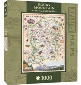 MasterPieces Xplorer Maps - Rocky Mountain 1000pc Puzzle