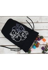Red King Fantasticute Gargoyles Embroidered Dice Bag