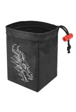 Red King Shadow Dragon Gray - Embroidered Dice Bag