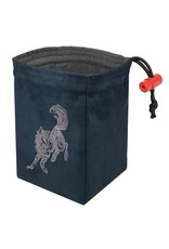Red King Baroque Wolf - Embroidered Dice Bag