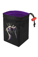Red King Dark Cat - Glow in the Dark Dice Bag