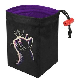 Red King Dark Cat - Glow in the Dark Dice Bag