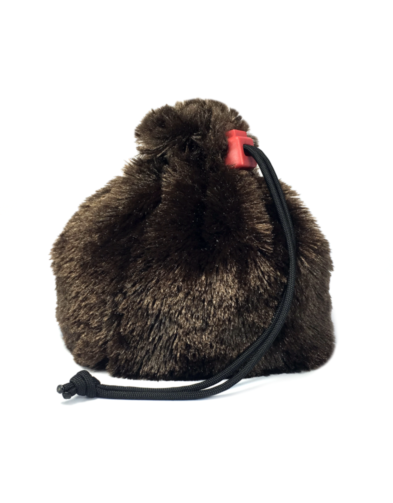 Red King Fur Dice Bag - Brown