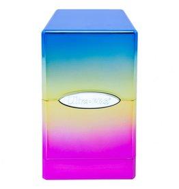 Ultra Pro Deck Box: Satin Tower: Hi-Gloss Rainbow