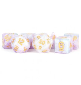 Metallic Dice Games 7-Set: 16mm: Lavender
