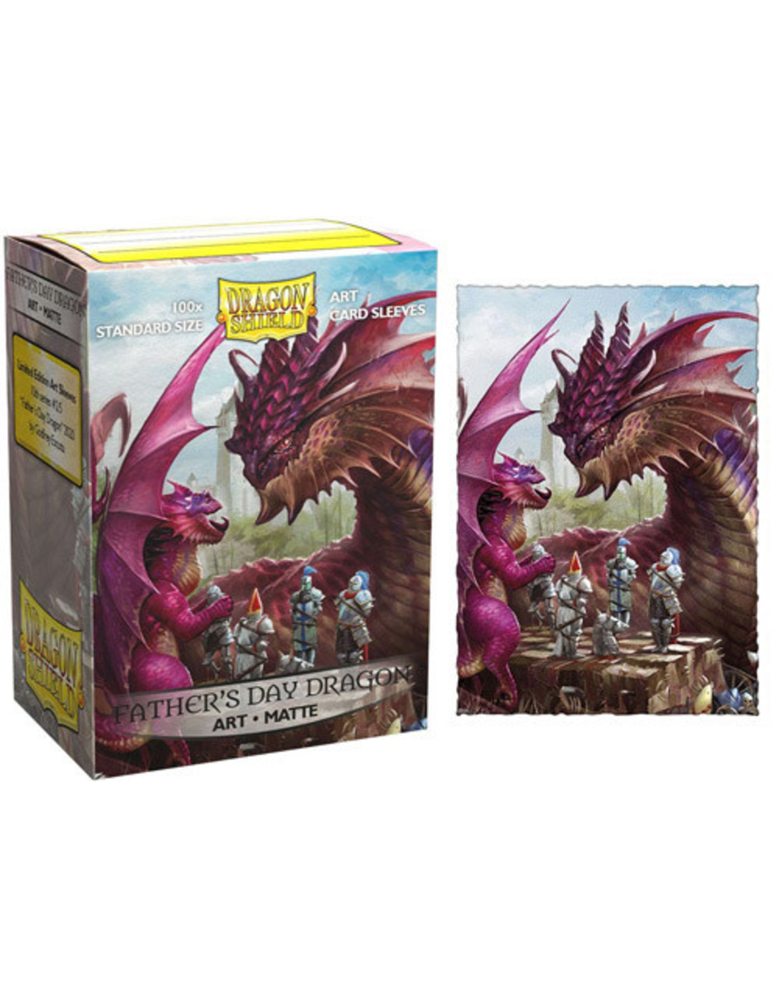 Dragon Shields: (100) Matte Art Sleeves - Father's Day Dragon