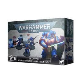 Warhammer 40K Space Marines Assault Intercessor + Paint Set