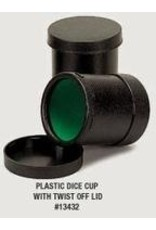 Koplow Plastic Round Dice Cup With Twist Cover
