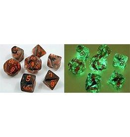 Chessex 7-Set Polyhedral Cube Lab Dice Nebula Matrix Cpor