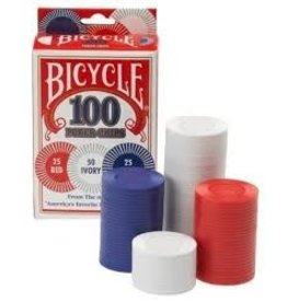 US Playing Card Co. Bicycle 100 Ct. 2g Poker Chips