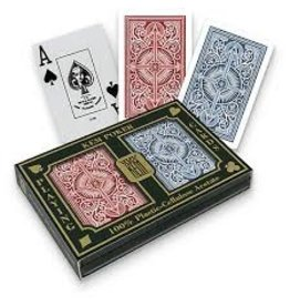 US Playing Card Co. Kem, Playing Cards, Plastic Narrow Jumbo Index - Blue Arrow Red Arrow