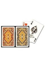 US Playing Card Co. Kem, Playing Cards, Plastic Narrow Jumbo Index -  Blue Paisley Red Paisley
