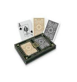 US Playing Card Co. Kem, Playing Cards, Plastic Narrow Jumbo Index - Arrow Black Arrow Gold