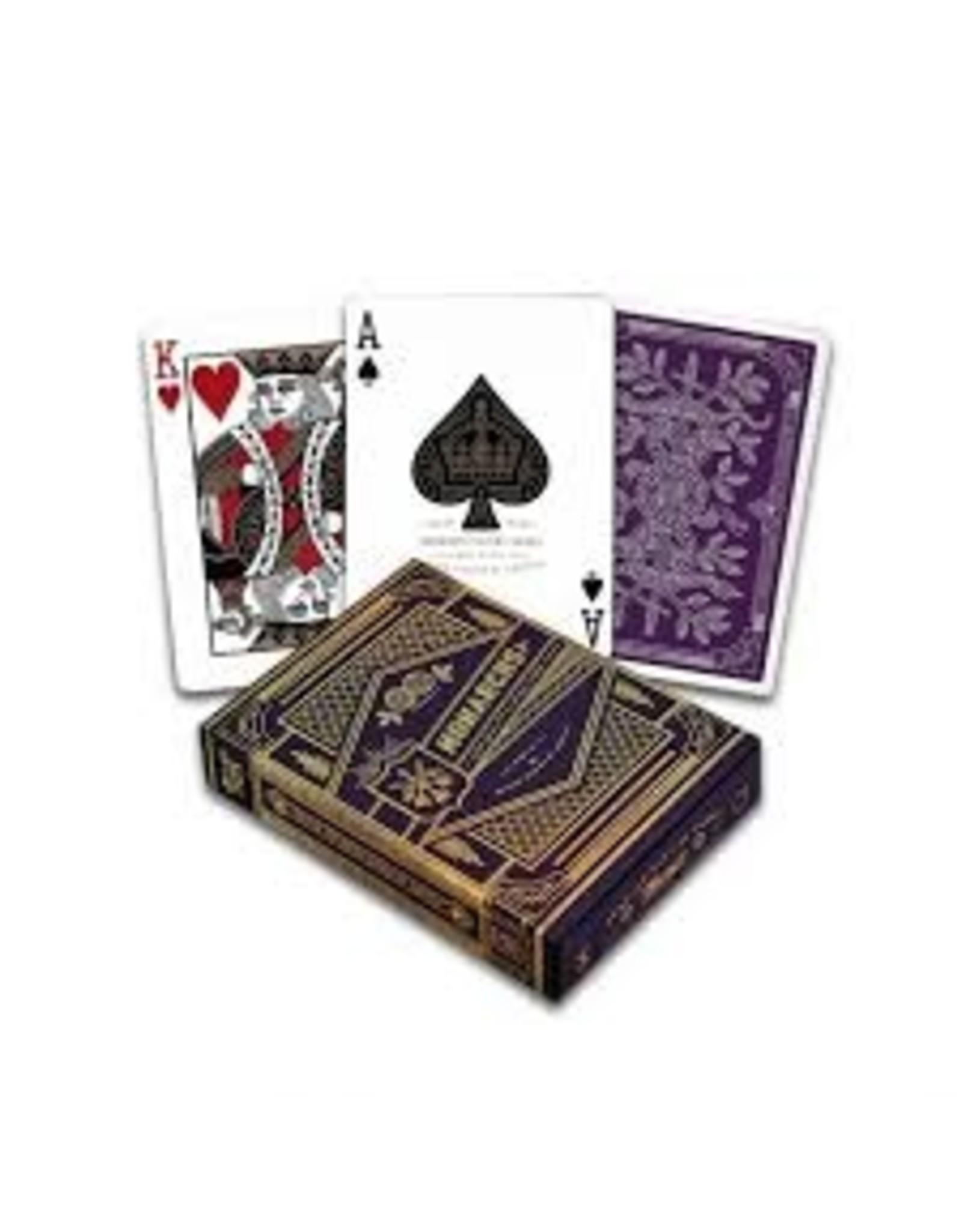 US Playing Card Co. Purple Monarchs