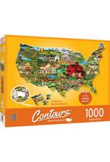 MasterPieces Countours - United States 1000pc Shaped Puzzle