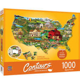 MasterPieces Countours - United States 1000pc Shaped Puzzle