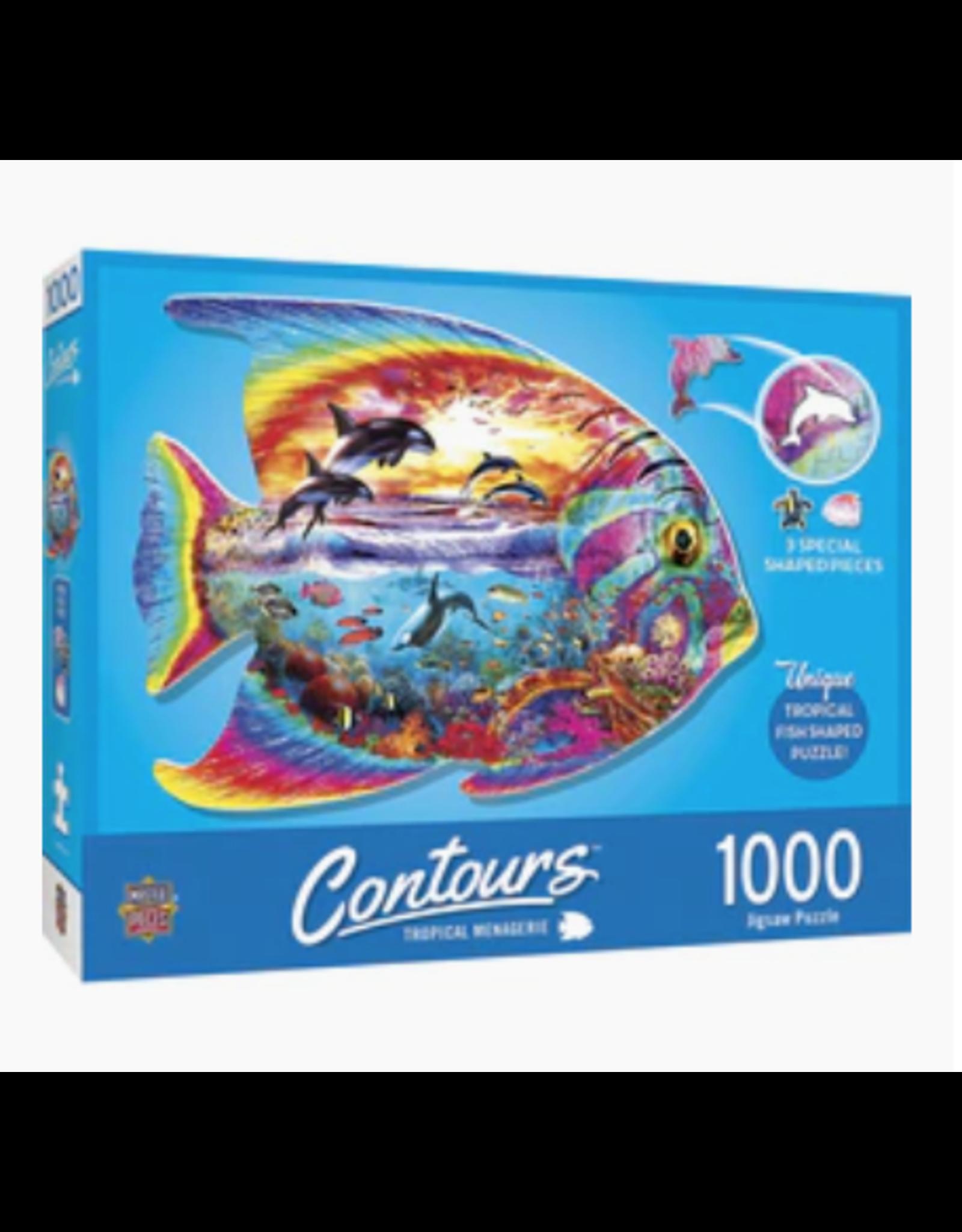 MasterPieces Countours - Tropical Fish 1000pc Shaped Puzzle
