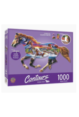 MasterPieces Countours - Running Horse 1000pc Shaped Puzzle