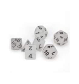 Chessex 7-Set Polyhedral Frosted - Clear/Black