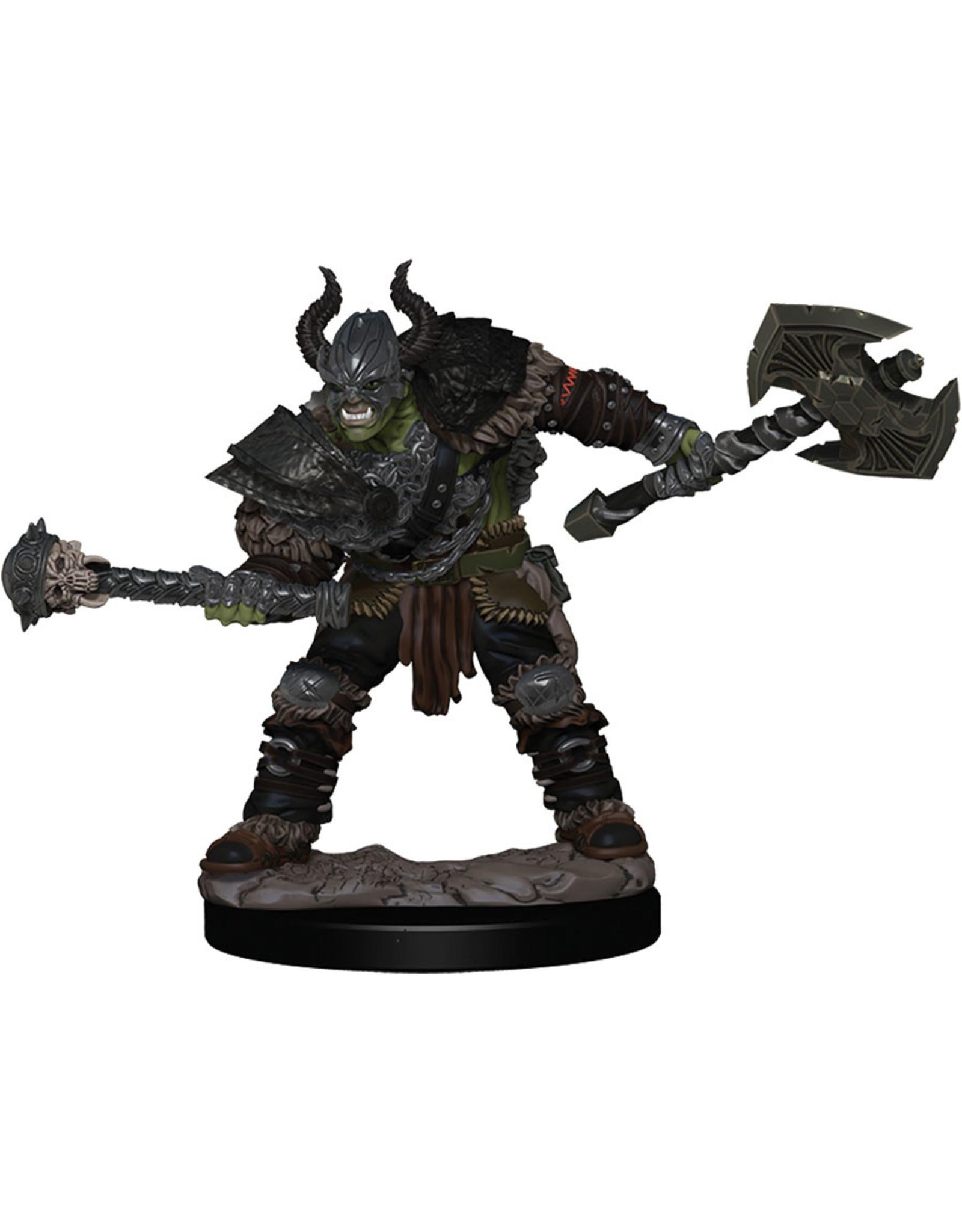 Wiz Kids PF Battles: Premium Painted Figure - W1 Half-Orc Barbarian Male