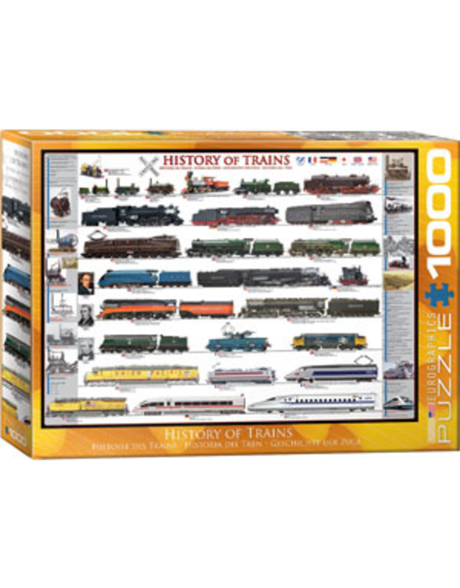 Eurographics History of Trains (1000 piece)
