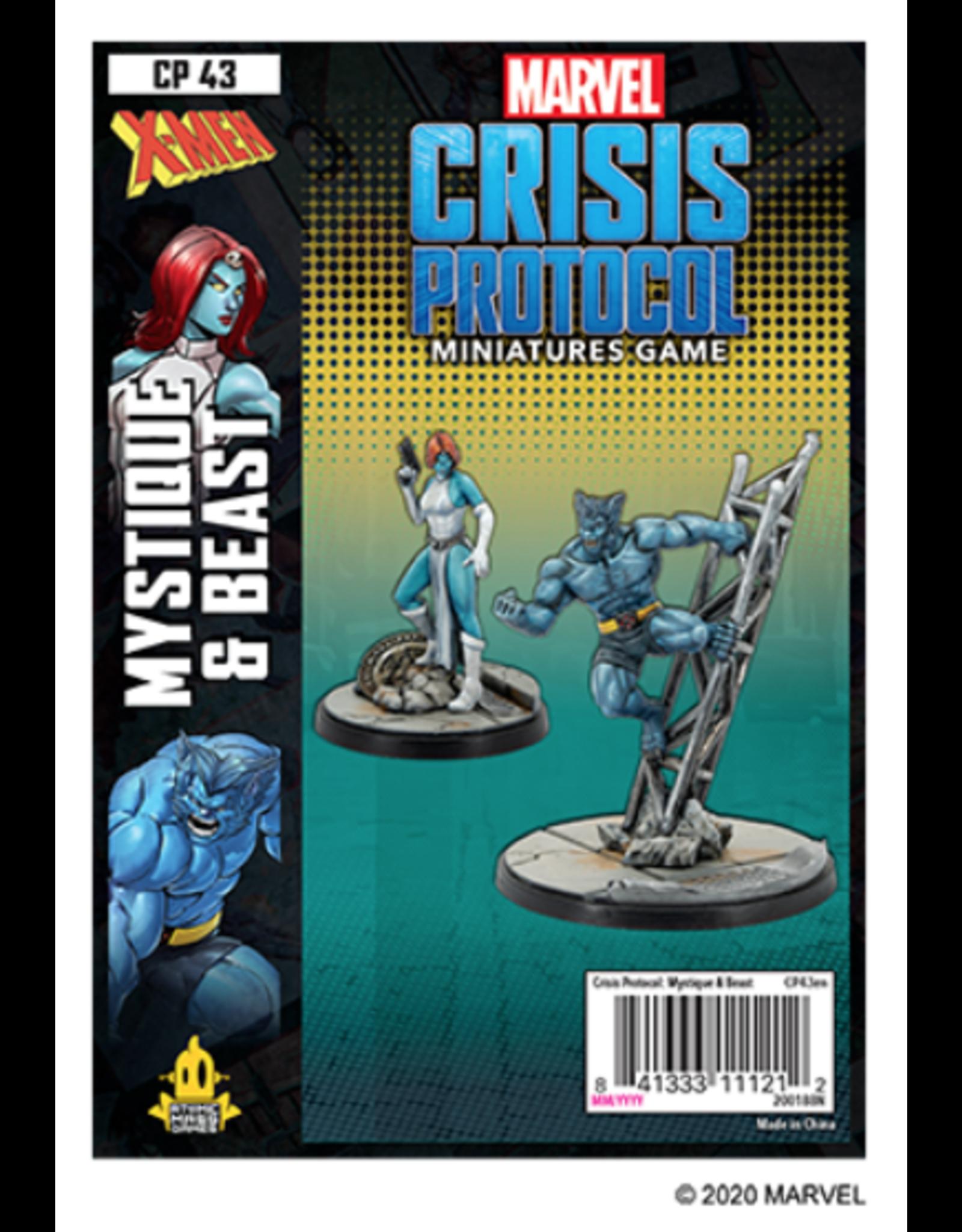 Atomic Mass Games Marvel: Crisis Protocol - Mystique & Beast