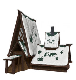 Wiz Kids D&D: IotR - Icewind Dale: Rime of the Frostmaiden - The Lodge Papercraft Set (Pre Order)