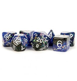 Dice 7-Set Eternal Blue-Black-White
