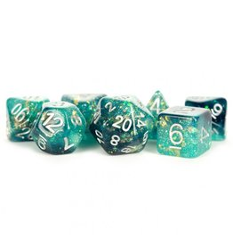 Dice 7-Set Eternal Teal-Black-White