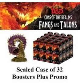 Wiz Kids D&D Miniatures:  Fangs and Talons Booster Case (32 Boosters) with Premium Figure