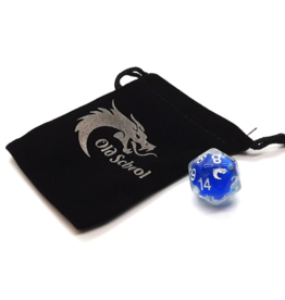 Old School Dice Old School D20 DnD RPG Die: Liquid Infused - Metallic Blue