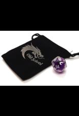 Old School Dice Old School D20 DnD RPG Die: Liquid Infused - Metallic Purple