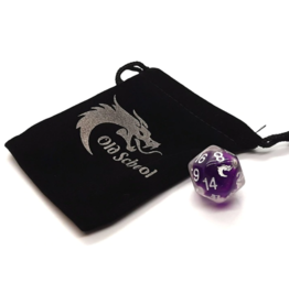 Old School Dice Old School D20 DnD RPG Die: Liquid Infused - Metallic Purple