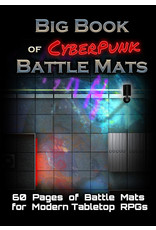 Loke Battlemats Battle Mats: Big Book of CyberPunk Battle Mats