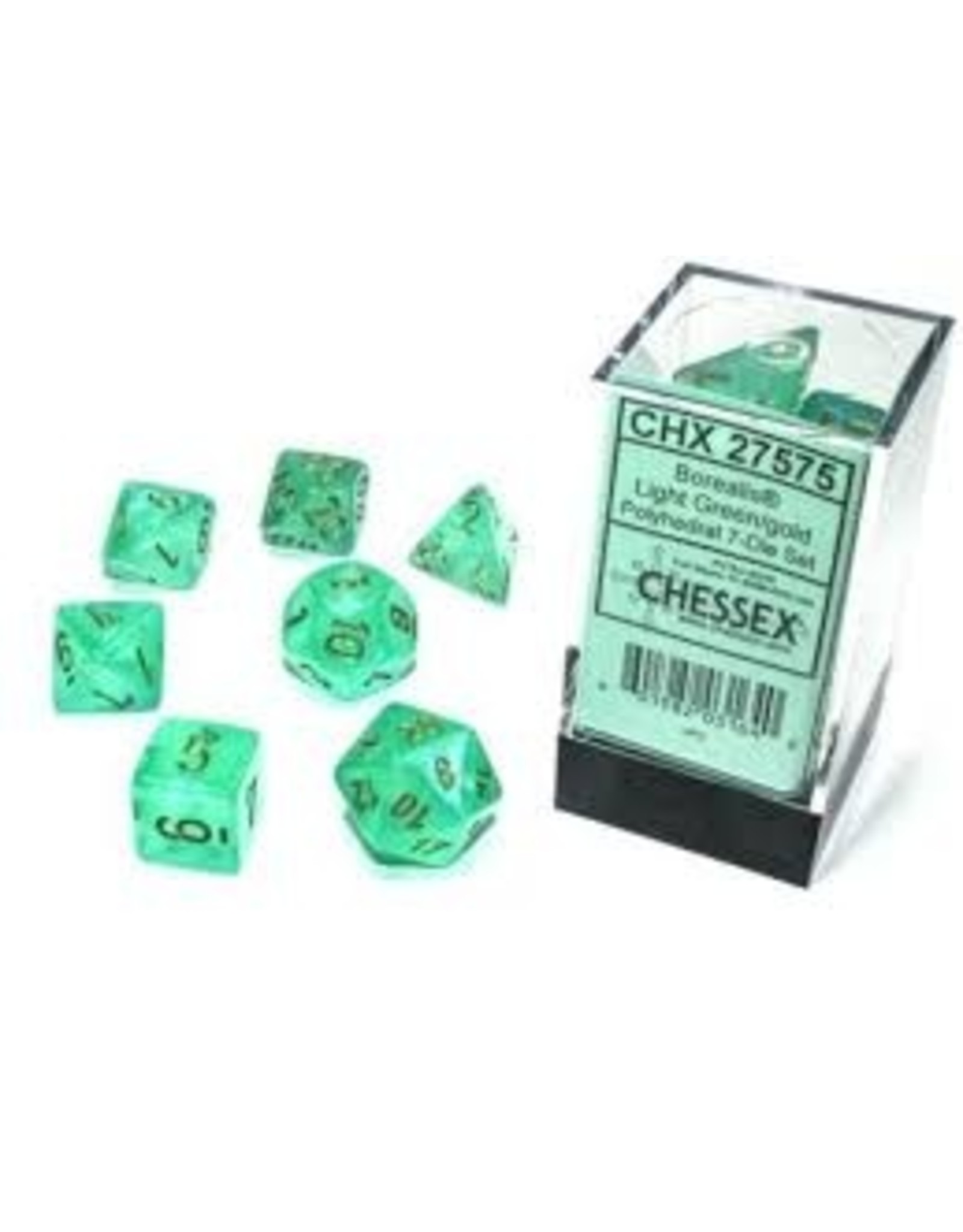 Chessex 7-SetCube Borealis Luminary LTGRgd