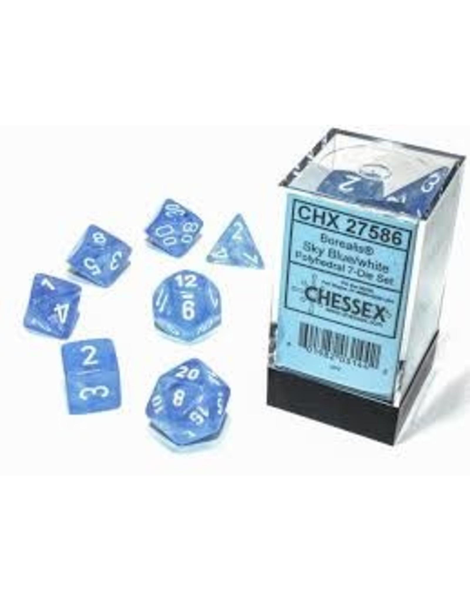 Chessex 7-SetCube Borealis Luminary SBUwh