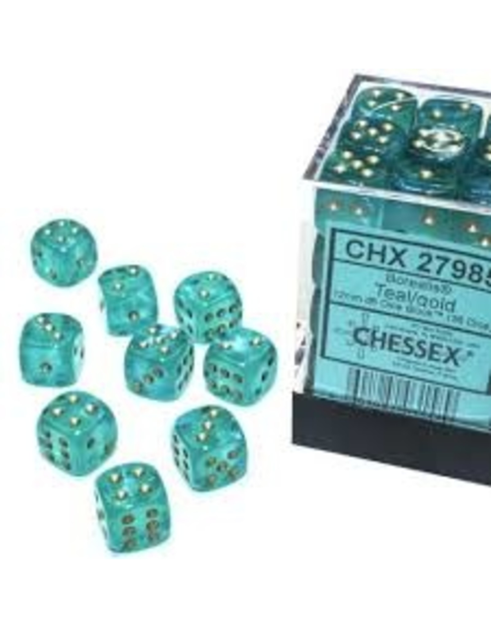 Chessex d6Cube16mm Borealis Luminary LTGRgd (12)