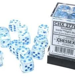 Chessex d6Cube16mm BORLuminary ICICLEltbu (12)