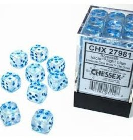 Chessex d6Cube12mm BORLuminary ICICLEltbu(36)
